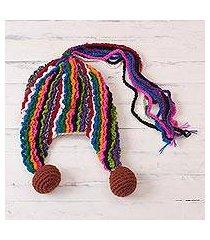alpaca blend chullo hat, 'fun with colors' (peru)