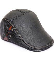 cappelli di berretto da merletto alla moda della pelle bovina di alta qualità degli uomini casuali caldi cappelli di forword windproof