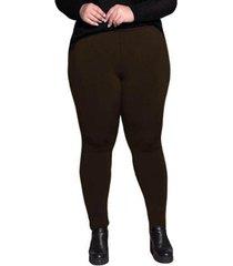 calça legging plus size peluciada térmica suplex dicors feminina