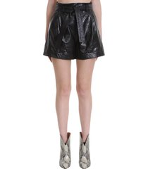 drome shorts in black leather
