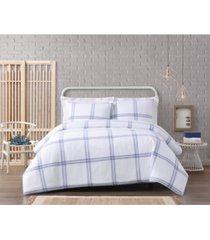 cottage classics modern charm cotton 3 piece full/queen comforter set bedding