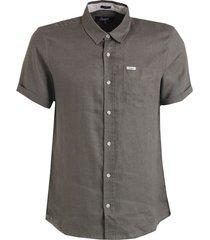 camisa m/c 100% lino