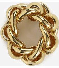bottega veneta yellow gold chain ring