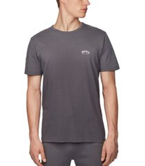 boss men's tee curved charcoal t-shirt