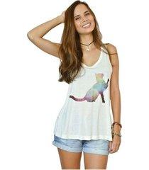 camiseta nalu rio gato feminina
