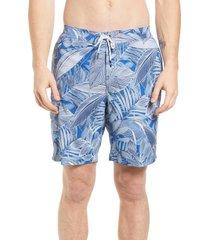 men's tommy bahama baja island botanical performance board shorts, size xx-large - blue