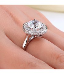 2 ct brilliant round cut diamond sterling 925 silver halo bridal engagement ring