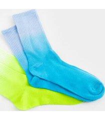 paula dip dye socks - navy