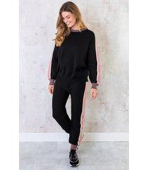 comfy huispak trui + broek zwart