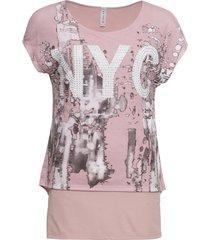 maglia lunga 2 in 1 stampata (rosa) - rainbow