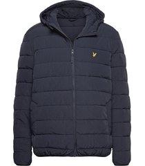 lightweight puffer jacket gevoerd jack blauw lyle & scott