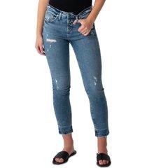silver jeans co. beau mid-rise slim-leg jeans