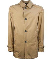 herno brown laminar trench coat