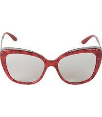 57mm oversized cat eye sunglasses