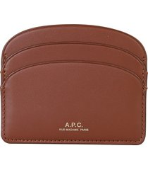 a.p.c. designer wallets, demi lune card holder