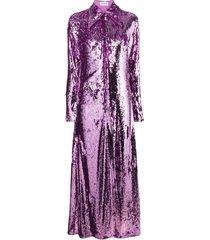 16arlington sequinned shirt dress - purple