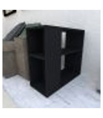 mesa lateral 25x60x55 cm mdf preto tx modelo en1803ml