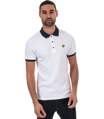 mens slim stretch contrast polo shirt