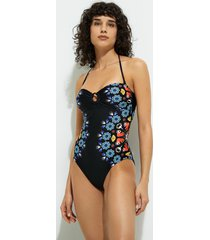 abyssal bandeau swimsuit - black - xl