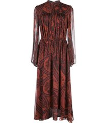 adam lippes chiffon paisley print dress - red