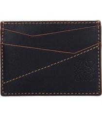 loewe puzzel stich wallet in black leather
