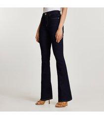 river island womens dark blue flare md rise jeans