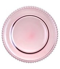 sousplat pearl rosa 32 cm - wolff