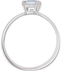 anillo con motivo swarovski attract, blanco, baño de rodio 5372880