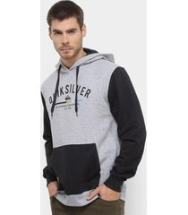 moletom quiksilver simple colour hood masculino