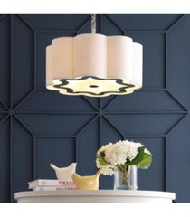 """coquille 4-light 20"""" adjustable scalloped shade led pendant"""
