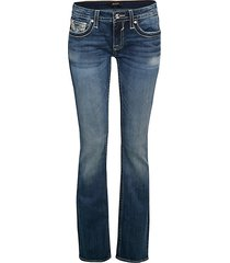 chelsea embroidery bootcut jeans