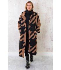 oversized woven coat long camel