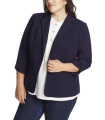 cece plus size 3/4 sleeve ponte blazer with bow sleeve