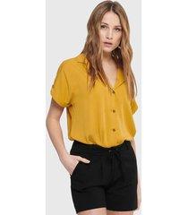 blusa jacqueline de yong mc amarillo - calce holgado