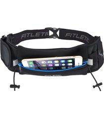 pochete para corrida com porta gel e extra bolso ultimate ii fitletic zíper azul