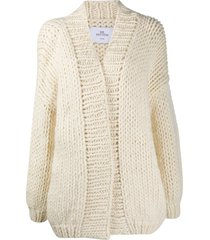mr. mittens relaxed soft wool cardigan - neutrals