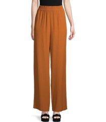 calvin klein women's crinkle-texture pants - black - size m
