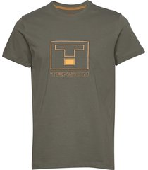 vildmark logo t-shirts short-sleeved beige tenson