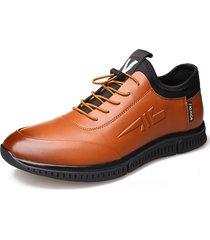 sneakers uomo casual in pelle microfibra antiscivolo in pizzo elastico