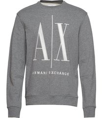 ax man sweatshirt sweat-shirt tröja grå armani exchange