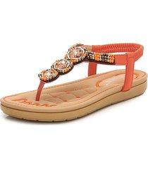sandali infradito bohème con elastico