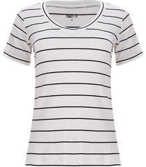 camiseta a rayas color blanco, talla s