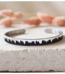 minimalistyczna bransoletka las z twoim grawerem
