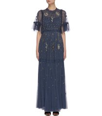 'ether' galaxy stars bead embellished gown