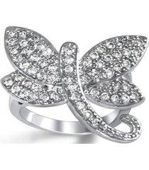 anillo libelula casual plateado arany joyas
