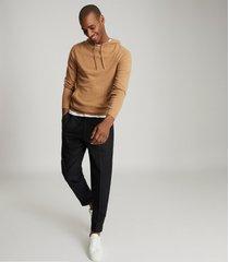 reiss santiago - cashmere blend hoodie in camel, mens, size xxl