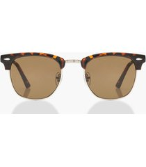 classic square top tortoiseshell sunglasses, brown