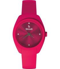 orologio solo tempo donna in silicone e cristalli per donna