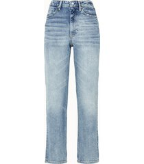 alexander wang jeans cult flex in denim azzurro con zip