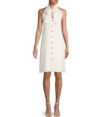 bow-front sleeveless shift dress